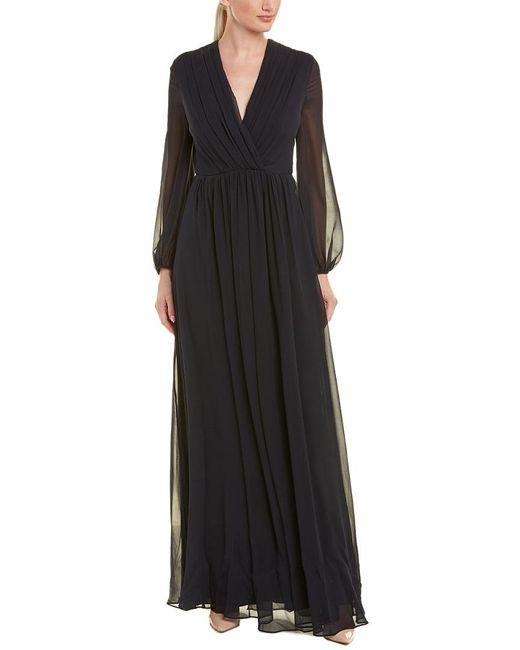 Max Mara Blue Silk Gown