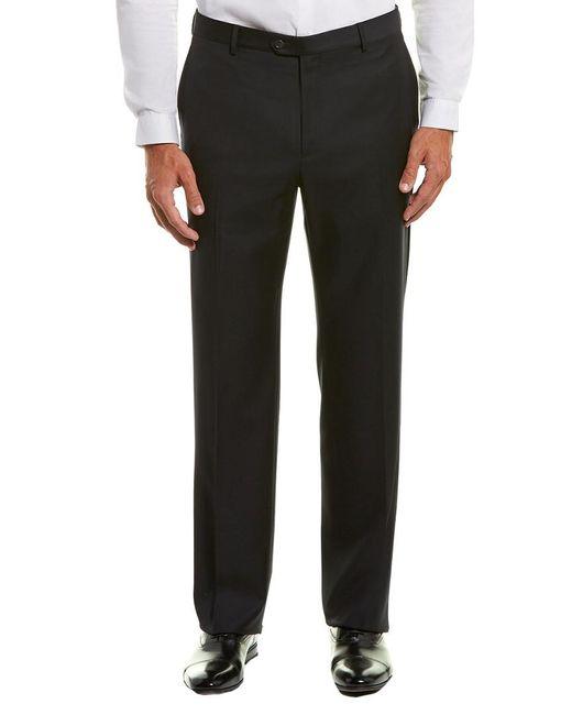 Dunhill Black Gilbert Wool Trouser for men