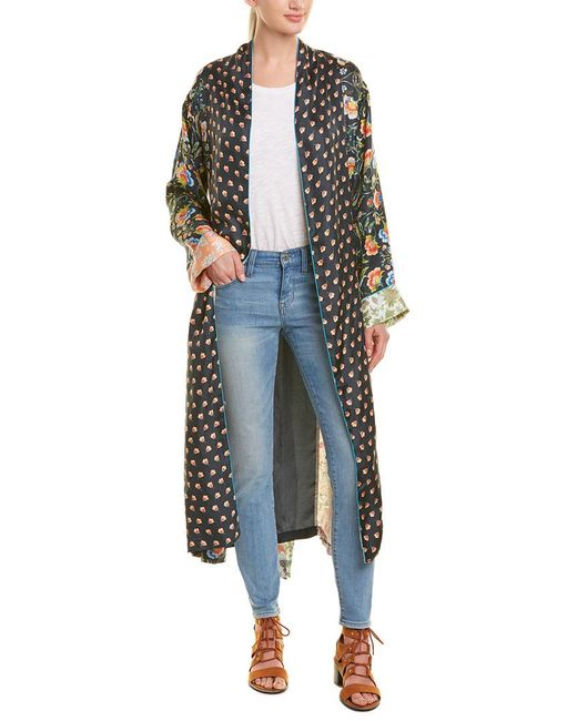 Johnny Was - Blue Silk Kimono - Lyst