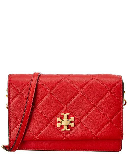Tory Burch - Red Georgia Mini Leather Shoulder Bag - Lyst