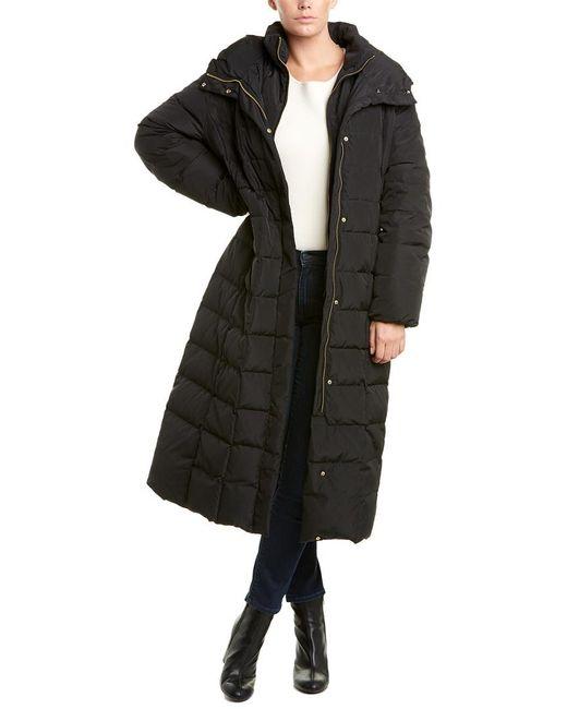 Cole Haan Black Long Down Puffer Coat