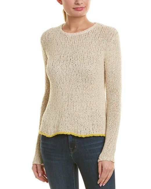 James Perse Natural Linen-blend T-shirt
