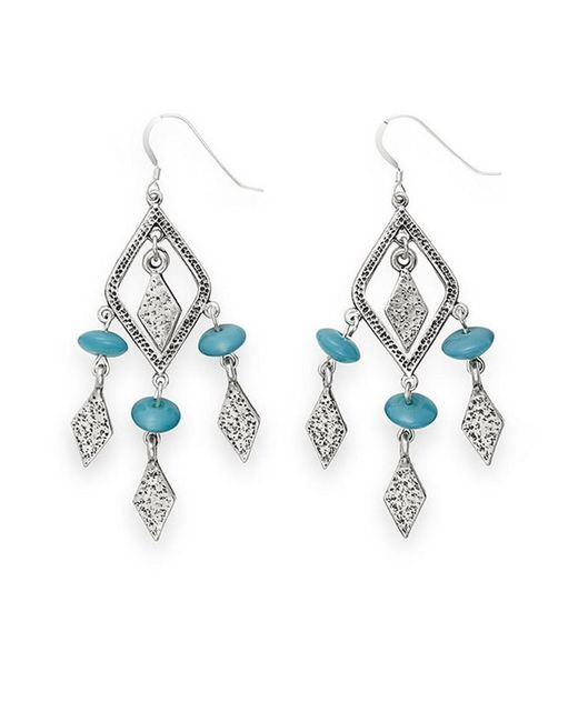 ALEX AND ANI Blue Crystal Earrings