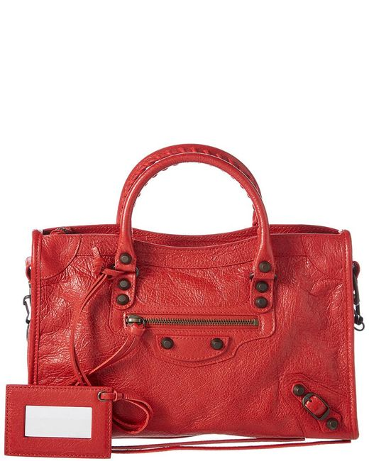 Balenciaga - Red Classic City Small Leather Shoulder Bag - Lyst