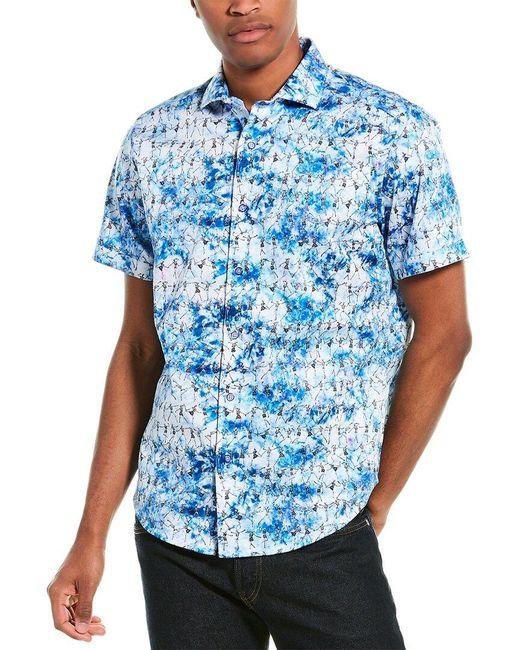 Robert Graham Blue Afterparty Woven Shirt for men