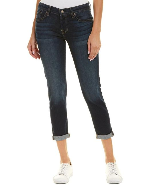 7 For All Mankind - Blue 7 For All Mankind Josefina Dark Edinburgh Skinny Boyfriend Cut - Lyst