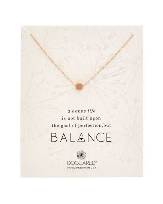 Dogeared - Metallic Karma 14k Rose Gold Over Silver Necklace - Lyst