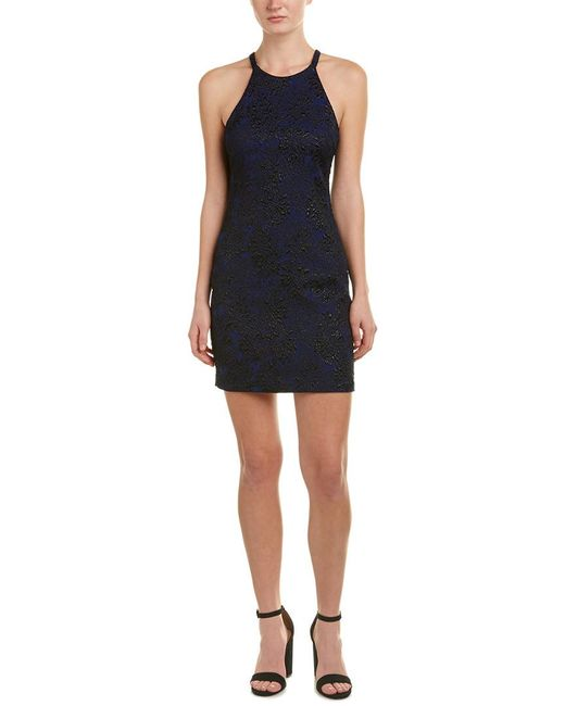 Parker - Blue Jacquard Sheath Dress - Lyst