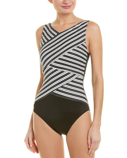 Miraclesuit - Black Mayan Stripe One-piece - Lyst