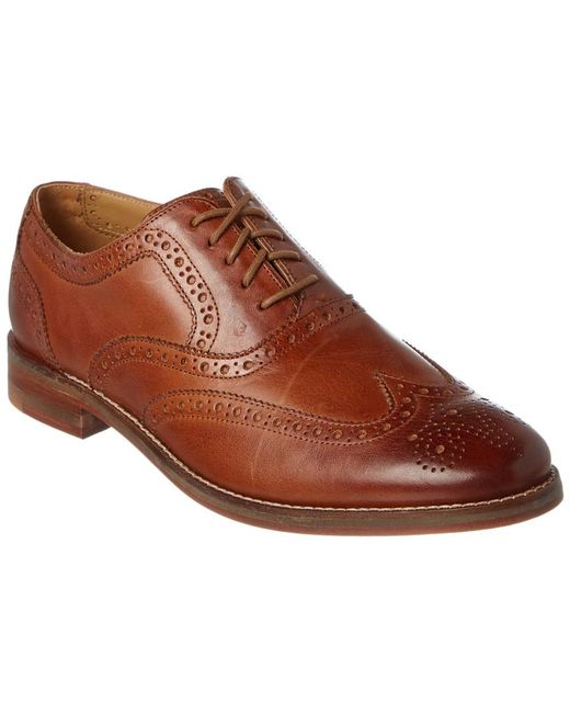 Cole Haan Brown Cambridge Leather Wingtip Oxford for men