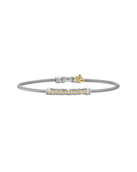 Alor - Multicolor Classique 18k 0.10 Ct. Tw. Diamond Bangle - Lyst