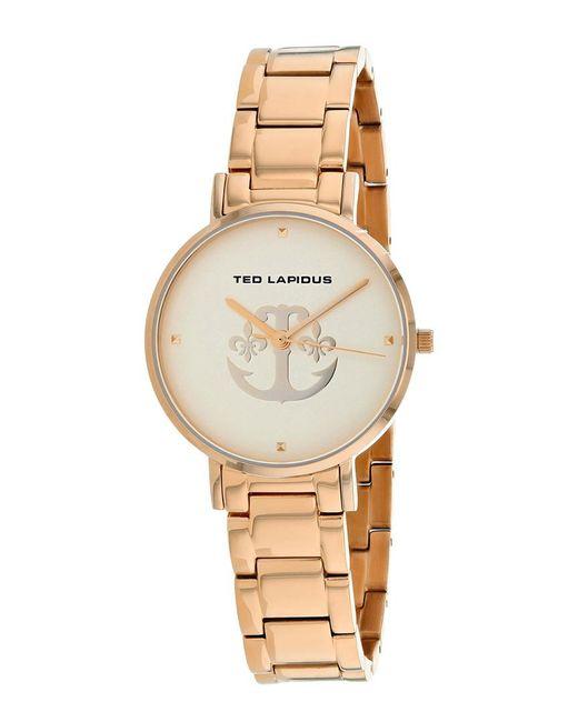 Ted Lapidus Metallic Classic Watch