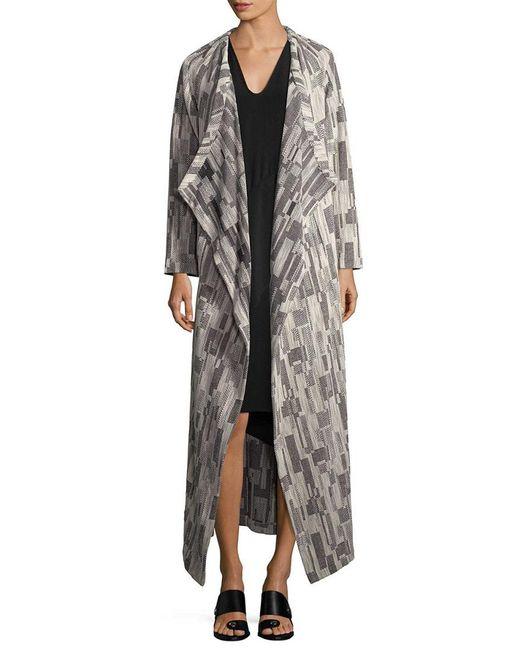 Zero + Maria Cornejo - Gray Print Blanket Cardigan - Lyst