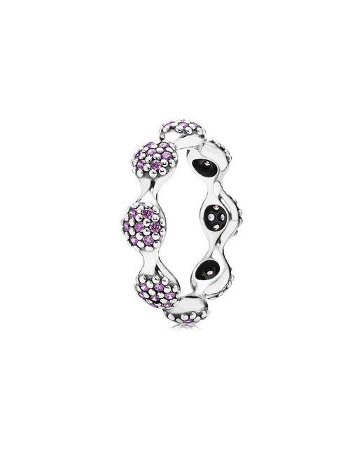 Pandora - Metallic Silver Cz Ring - Lyst