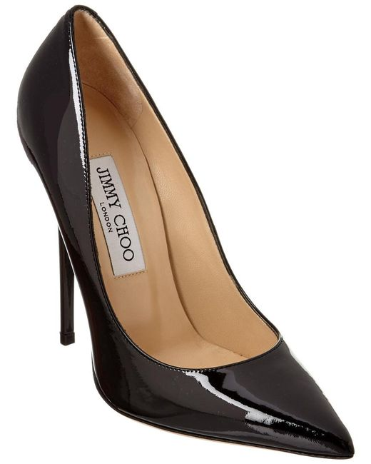 Jimmy Choo Black 120mm Anouk Patent Leather Pumps