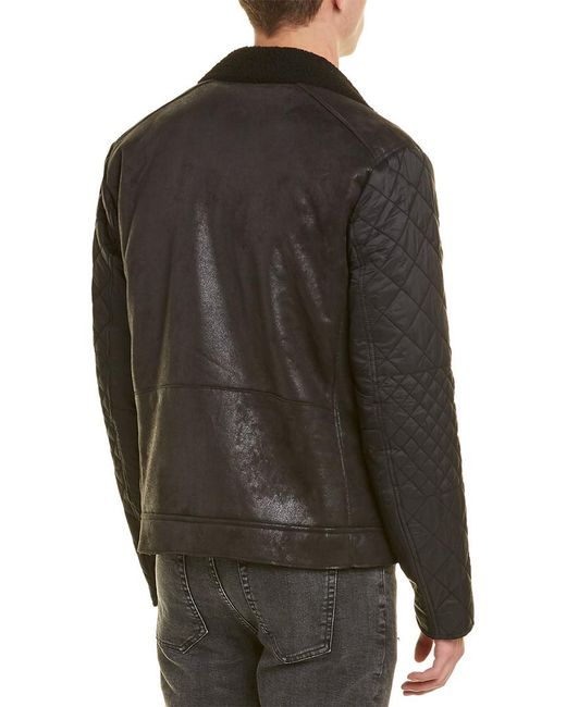 e3600427a Armani Exchange Moto Jacket in Black for Men - Save 1% - Lyst