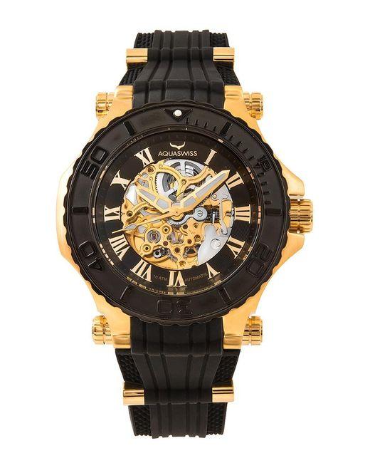 aquaswiss unisex bolt g automatic watch in black lyst