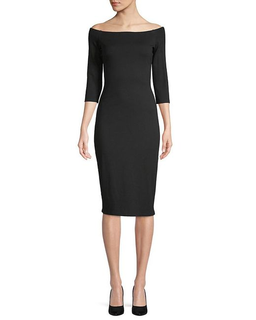 Bailey 44 - Black Bailey 44 Date Night Off-the-shoulder Sheath Dress - Lyst