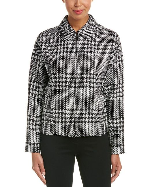 265c82cfc1f3 Lyst - ESCADA Woven Jacket in Black - Save 54%