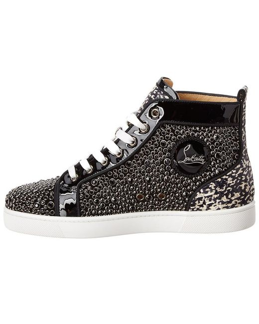 338f8a21088 Lyst - Christian Louboutin Louis Orlato Studded Patent Sneaker in ...