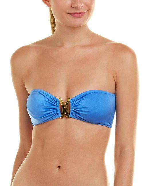 MILLY Blue Cabana Elba Bandeau Bikini Top