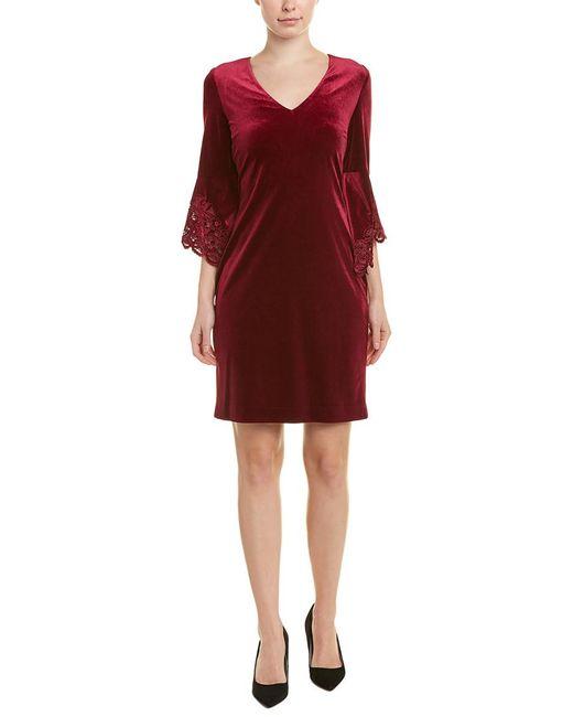 Tahari Red Tahari Asl Sheath Dress