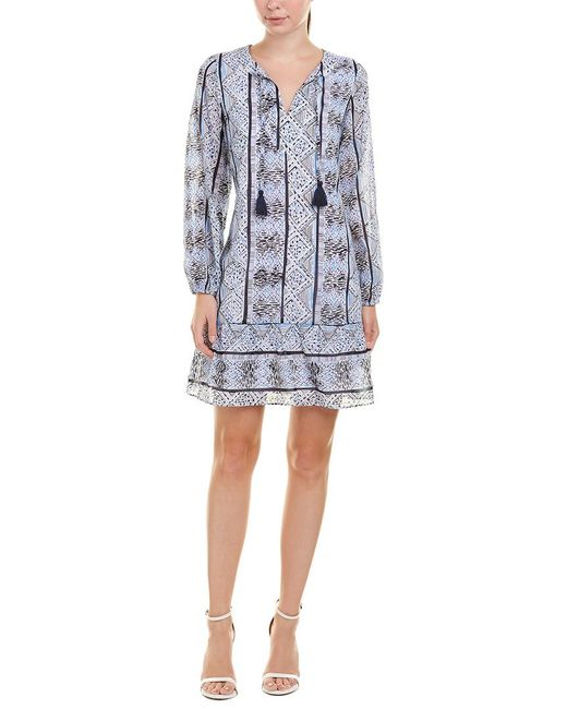 Sail To Sable - Blue Shift Dress - Lyst