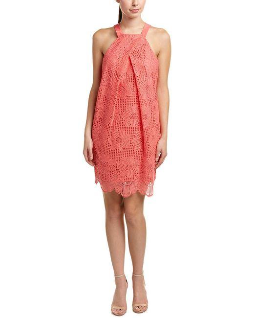 Trina Turk - Pink Felisha Silk-blend Shift Dress - Lyst
