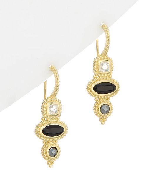 Judith Ripka - Metallic 14k Over Silver 2.55 Ct. Tw. Gemstone Drop Earrings - Lyst