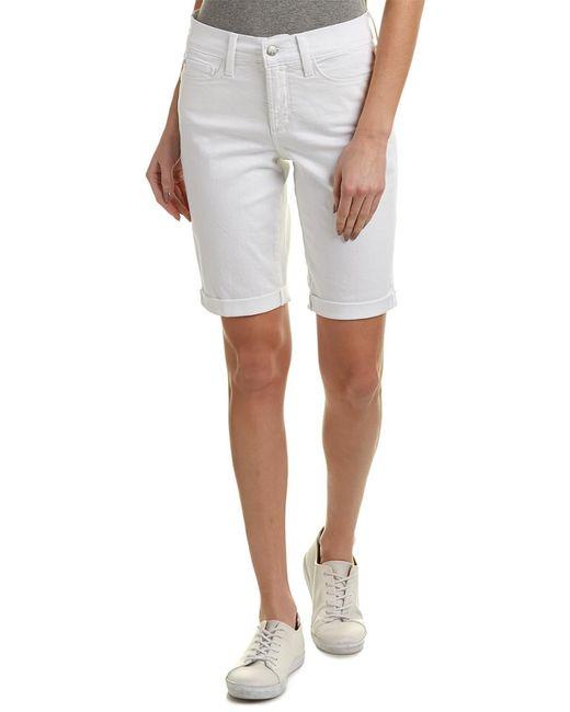 NYDJ - White Briella Roll Cuff Jean Short - Lyst