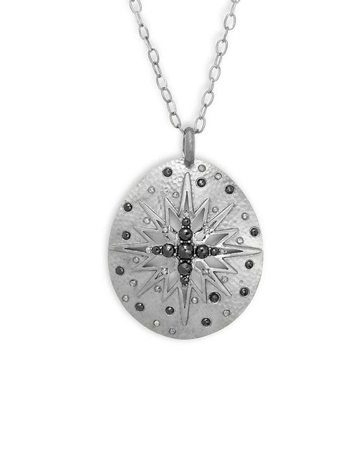 Bavna - Metallic Champagne Diamond, Black Spinel & Silver Necklace - Lyst