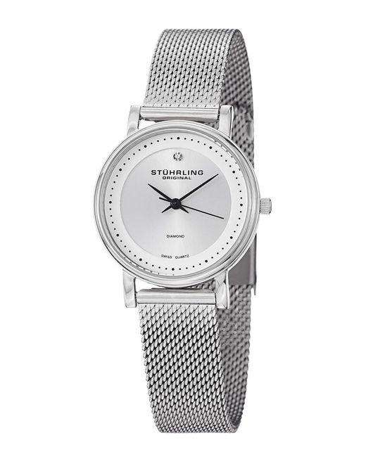Stuhrling Original Metallic Stuhrling Vogue Diamond Watch