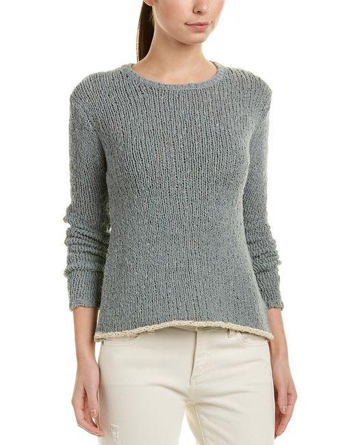 James Perse Gray Linen-blend Sweater