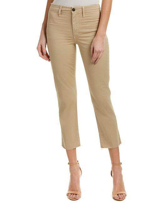 Joe's Jeans - Natural Jane Khaki High-rise Straight Crop - Lyst