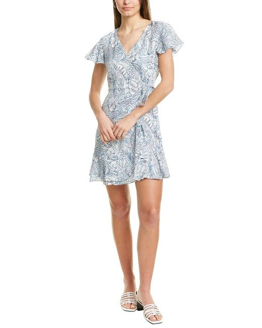Parker Blue Ansley Silk Mini Dress