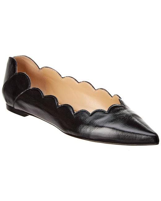 Chloé - Black Lauren Pointy Leather Ballerina Flat - Lyst