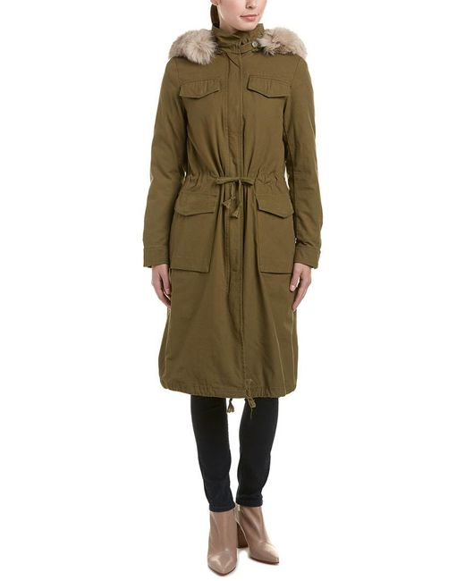 Dawn Levy Green Cleo Extra Long Anorak
