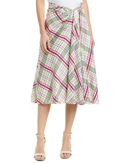 Prabal Gurung - White Moore Side Twist Silk Skirt - Lyst