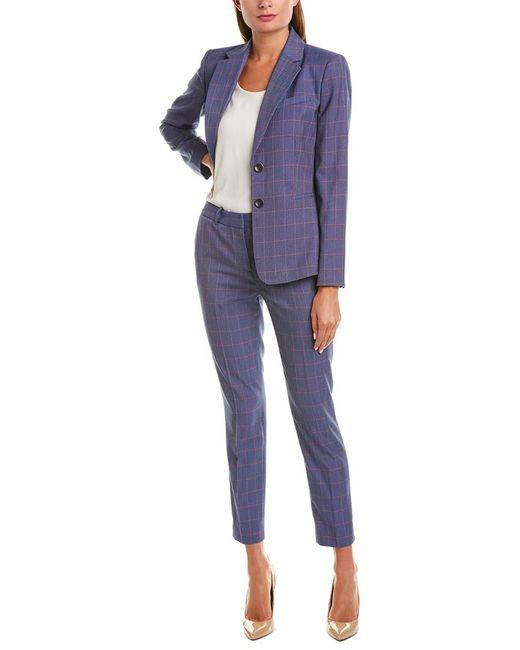 Tahari Blue Tahari Asl 2pc Pant Suit