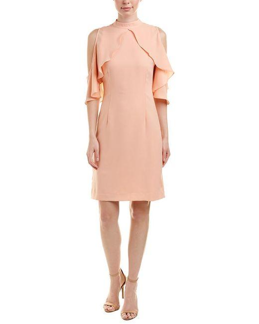 Catherine Malandrino - Orange Sheath Dress - Lyst