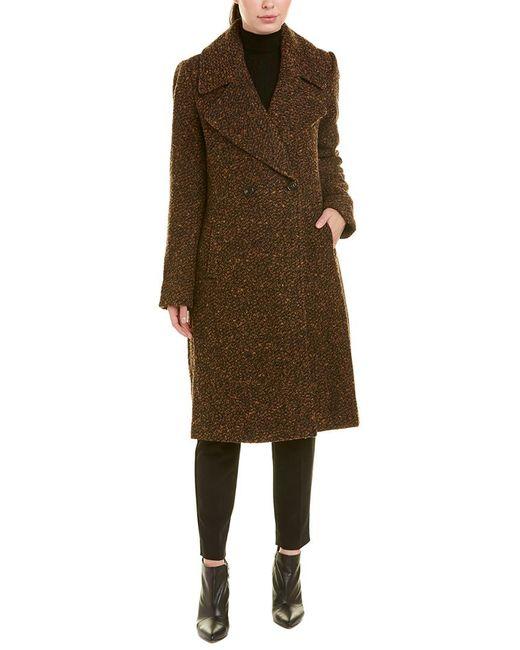Badgley Mischka Black Sabrina Boucle Wool-blend Coat