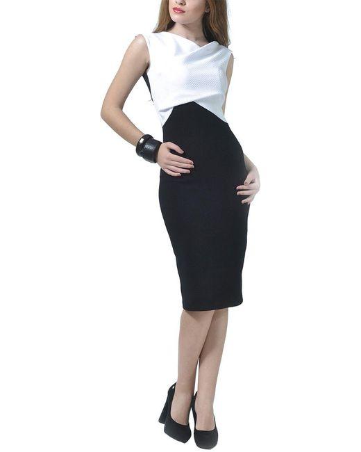 LADA LUCCI Black Wool-blend Dress