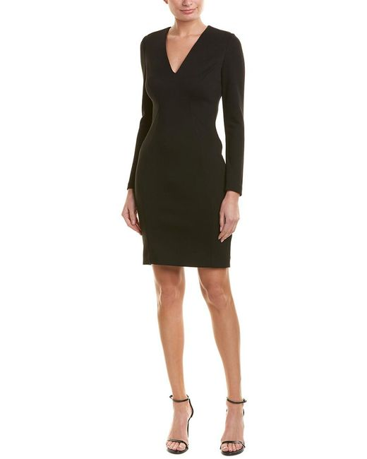 Elie Tahari Black Sheath Dress
