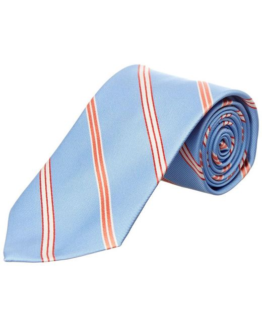 Brooks Brothers - Light Blue Stripe Silk Tie for Men - Lyst