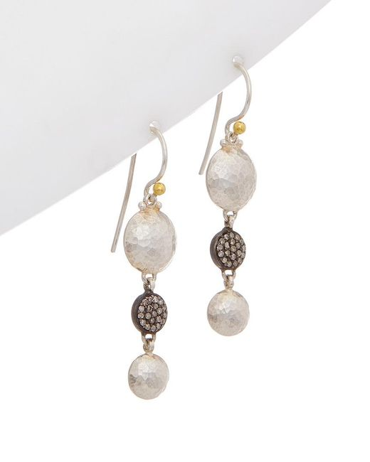 Gurhan - Metallic Lentil 24k & Silver Drop Earrings - Lyst