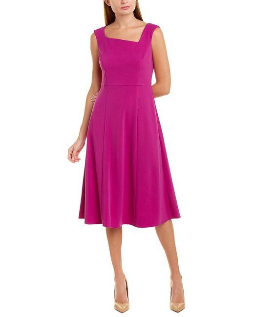 Donna Morgan Purple Midi Dress
