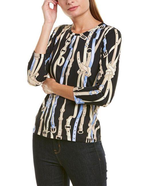 J.McLaughlin Black Catalina Cloth Top