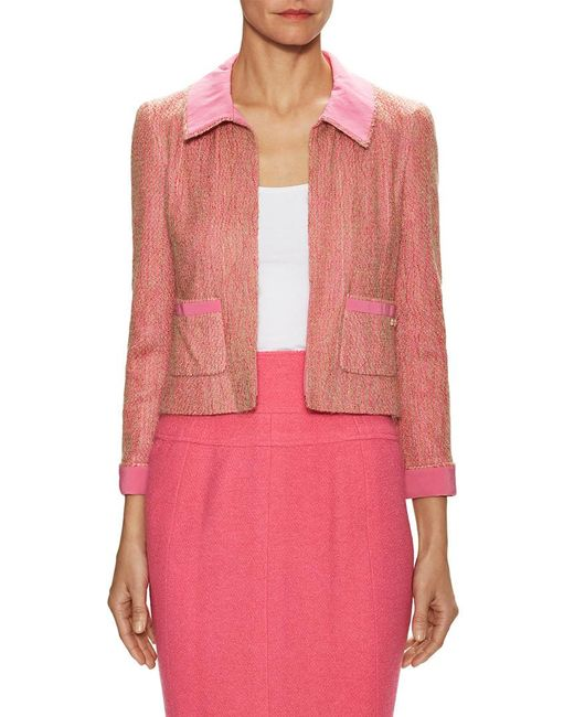 Chanel - Pink Vintage Mohair Mixed Media Jacket - Lyst