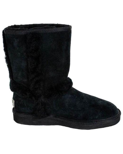 Ugg Black Carter Sheepskin Suede Boot