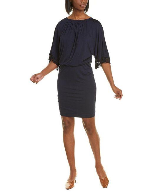 Trina Turk Blue Bird Of Paradise Blouson Dress